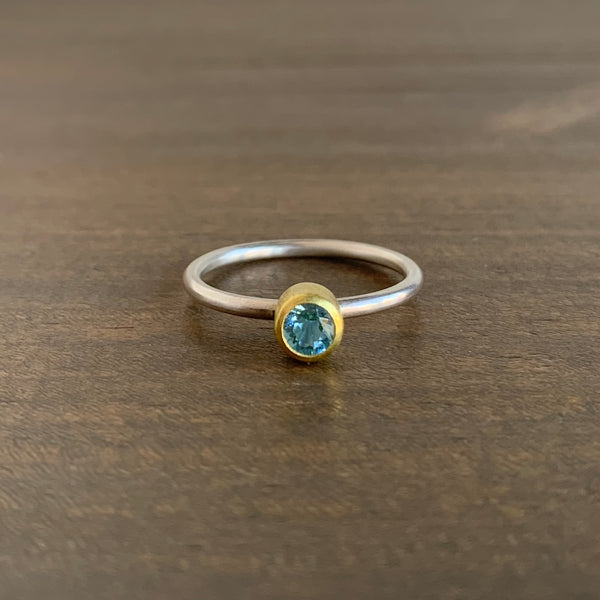 Sam Woehrmann Aquamarine Round Ring