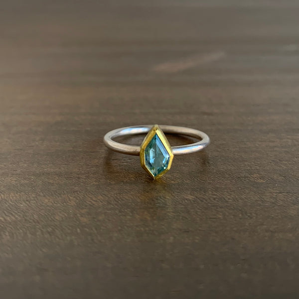 Sam Woehrmann Aquamarine Shield Ring
