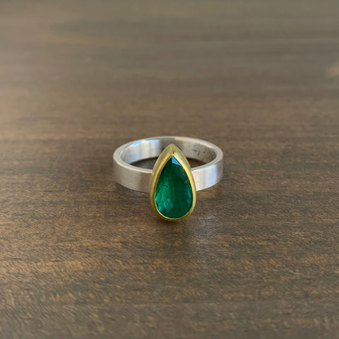 Sam Woehrmann Emerald Drop Ring