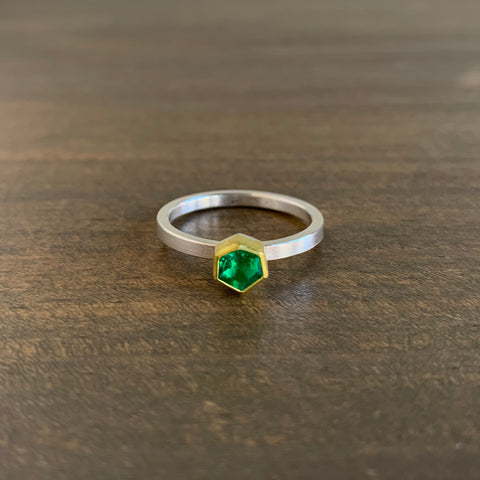 Sam Woehrmann Emerald Hexagon Ring