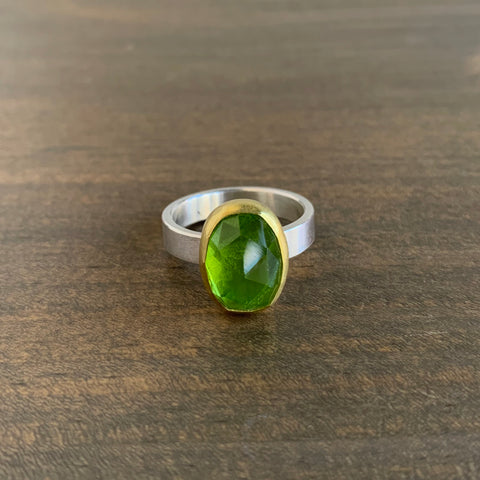 Sam Woehrmann Peridot Oval Ring