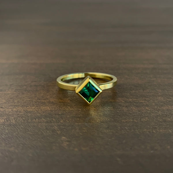 Sam Woehrmann Tourmaline Square Ring