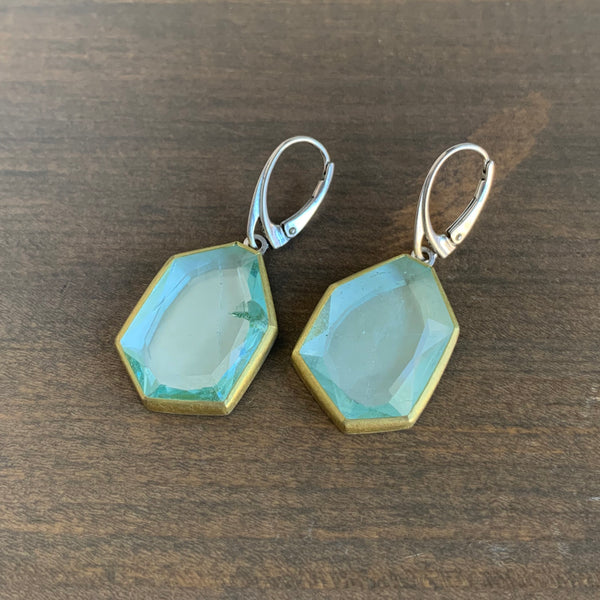 Sam Woehrmann Aquamarine Geometric Earrings