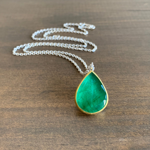 Sam Woehrmann Emerald Drop Pendant