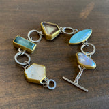 Sam Woehrmann Smoky Quartz, Aquamarine, Tourmaline, Phenakite, and Pearl Bracelet
