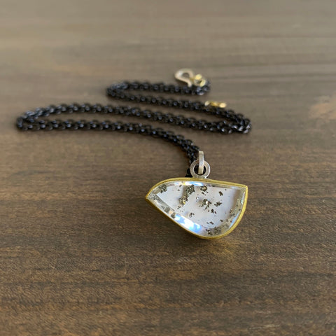 Sam Woehrmann Quartz with Pyrite Pendant
