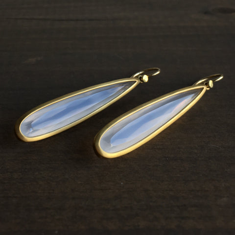 Lola Brooks Long Moonstone Drop Earrings