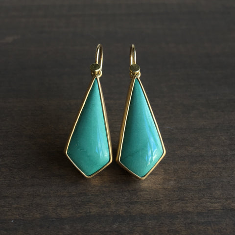 Lola Brooks Tibetan Turquoise Kite Earrings