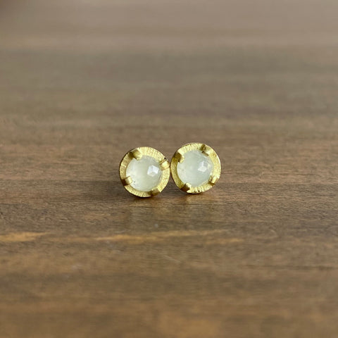 Heather Guidero Carved Prong Set Aquamarine Studs