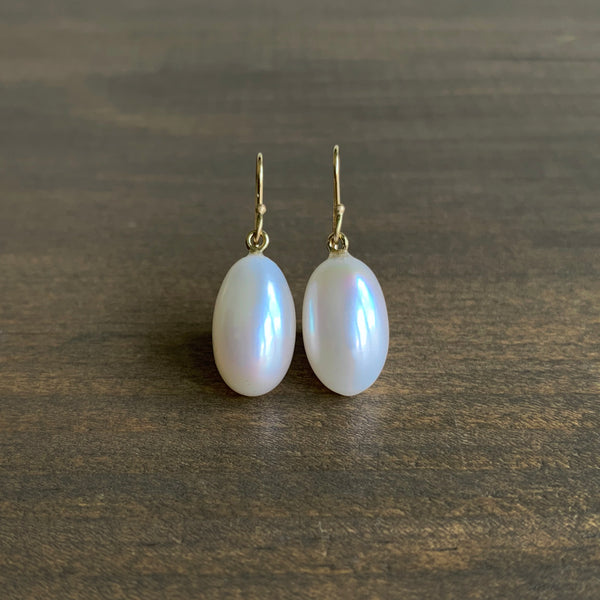 Rosanne Pugliese Cream Freshwater Pearl Egg Drop Earrings