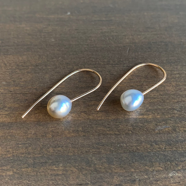 Rosanne Pugliese Cream Keshi Pearl Mini Drop Earrings