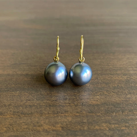 Rosanne Pugliese Fine Tahitian Pearl Drop Earrings