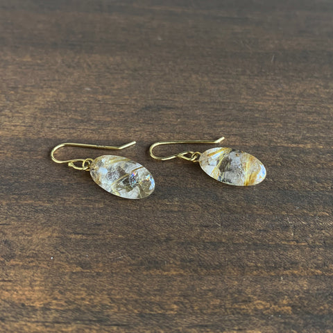 Rosanne Pugliese Mini Rutilated Quartz Drop Earrings