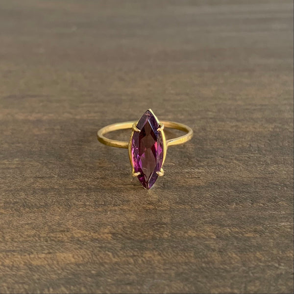 Rosanne Pugliese Pink Tourmaline Navette Mini Gem Ring