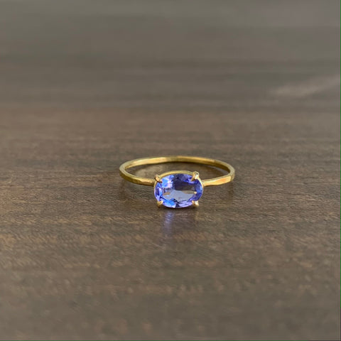 Rosanne Pugliese Faceted Tanzanite Mini Gem Ring