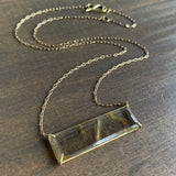 Rosanne Pugliese East-West Rutilated Quartz Bar Pendant