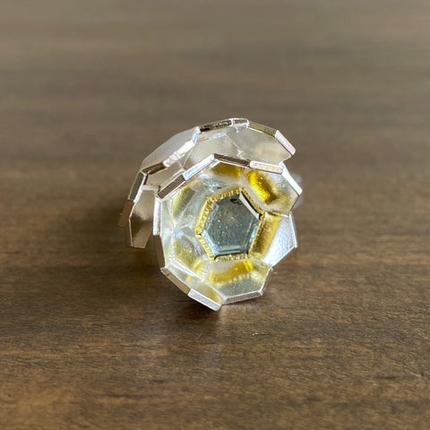 Karin Jacobson Faceted Globe Ring
