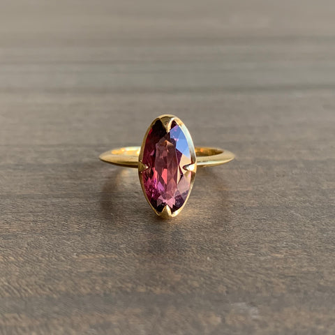 Mimi Favre Pink Faceted Tourmaline Claw Ring