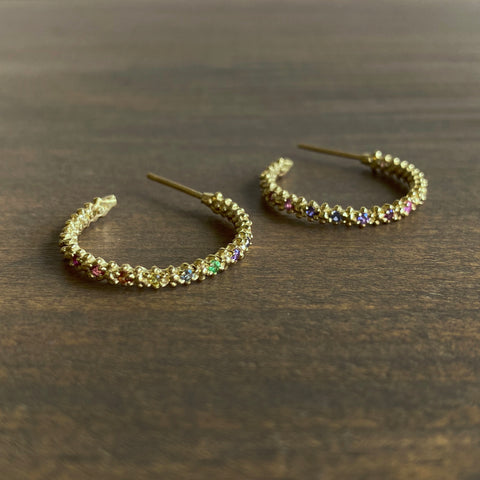 Ruta Reifen Rainbow Carmel Hoop Earrings