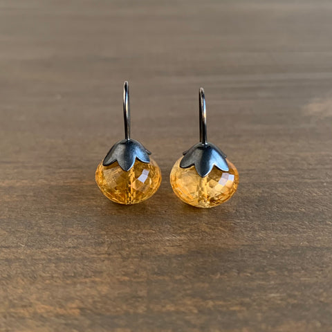 Mimi Favre Citrine Morning Glory Pod Earrings