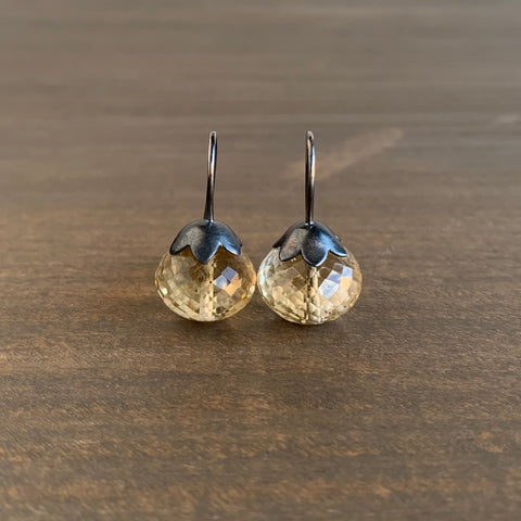 Mimi Favre Pale Smoky Quartz Morning Glory Pod Earrings