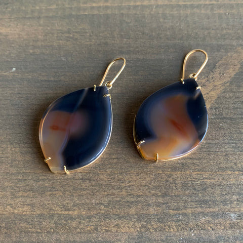 Mimi Favre Freeform Agate Earrings