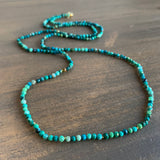 Judi Powers Faceted Chrysocolla Bead Necklace