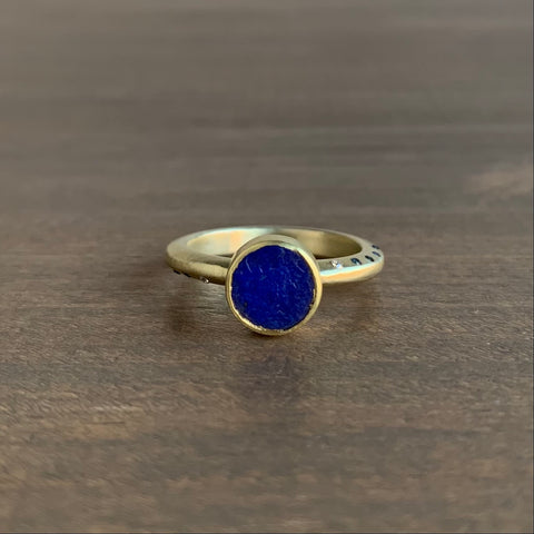 Judi Powers Lapis Lazuli Ring with Sapphires & Diamonds