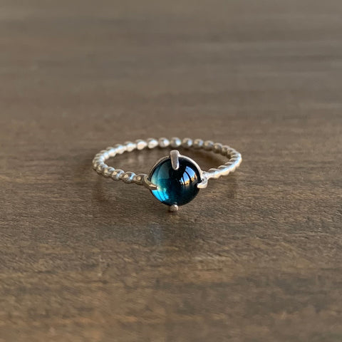Judi Powers London Blue Topaz Gum Drop Ring