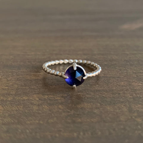 Judi Powers Rose Cut Iolite Gum Drop Ring