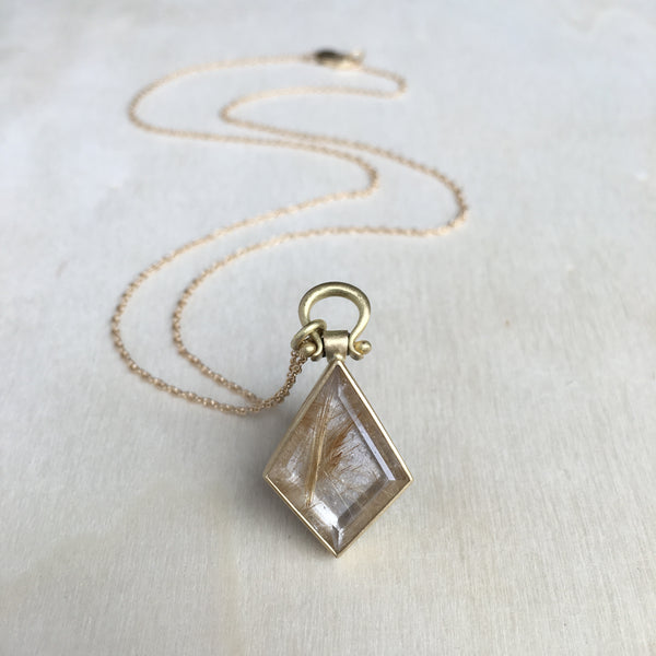 Monika Krol Rutilated Quartz Kite Pendant