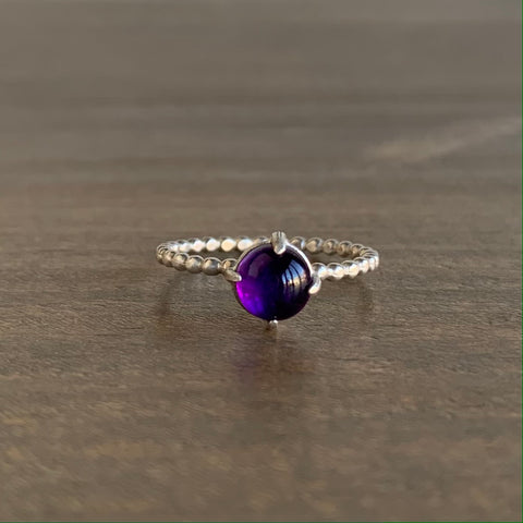 Judi Powers Amethyst Gum Drop Ring