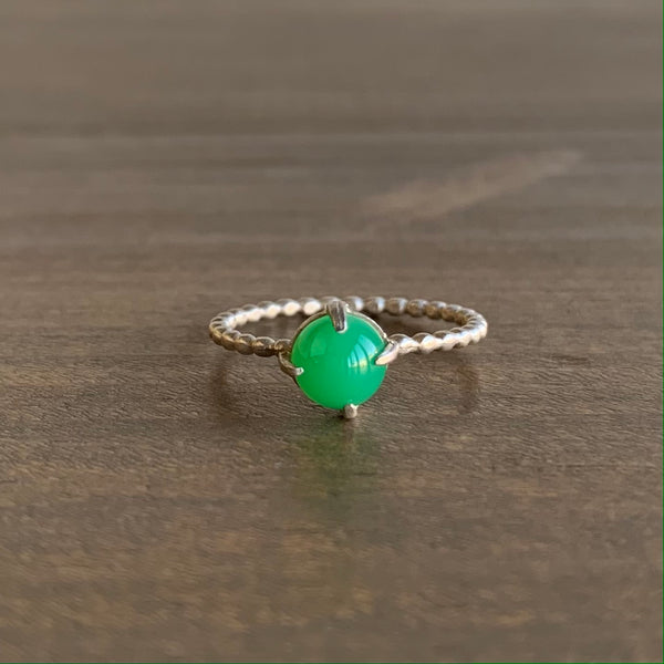 Judi Powers Chrysoprase Gum Drop Ring