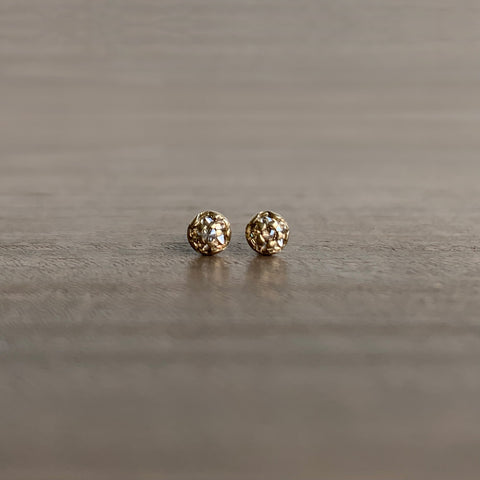 S. Yamane Small Champagne Diamond Urchin Stud Earrings