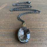 Mimi Favre Pyrite in Quartz Crystal Pendant
