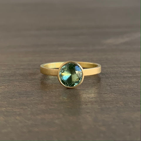 Monika Krol Pale Green Tourmaline Stacking Ring