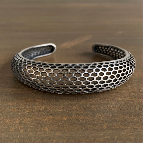 Rachel Atherley Antiqued Silver Single Snakeskin Cuff