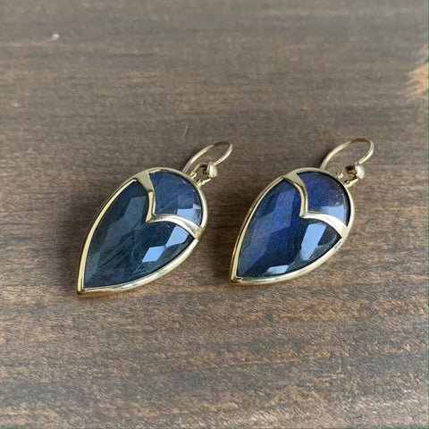 Rachel Atherley Labradorite Owl Earrings