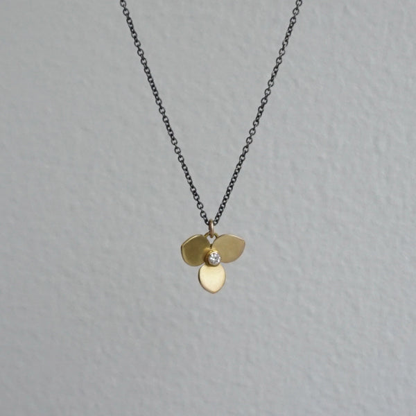 Katie Carder Trefoil Diamond Necklace