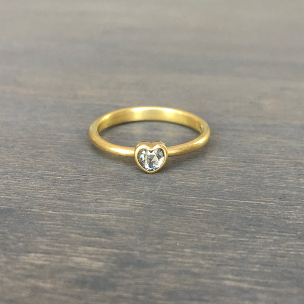 Lola Brooks Salt & Pepper Diamond Sweetheart Ring