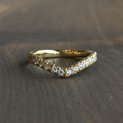 Lauren Wolf Wishbone Half Eternity Nesting Wedding Band