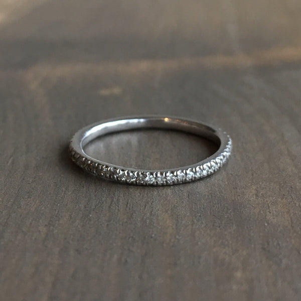 Lauren Wolf White Diamond Eternity Wedding Band