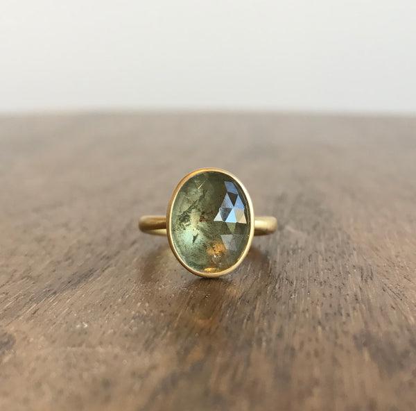 Lola Brooks Sage Green Oval Sapphire Ring