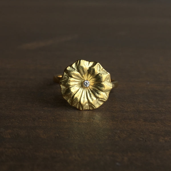 Mimi Favre Small Gold Lotus Ring
