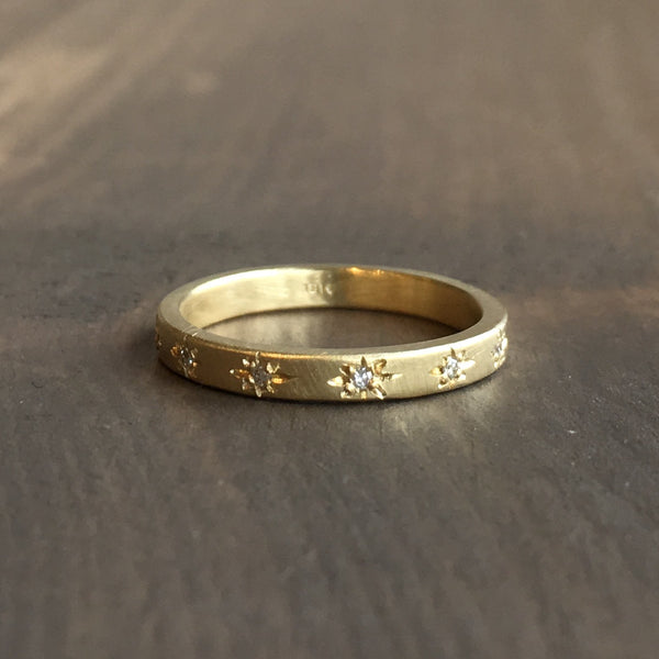 Sarah Swell Starry Sky Wedding Band
