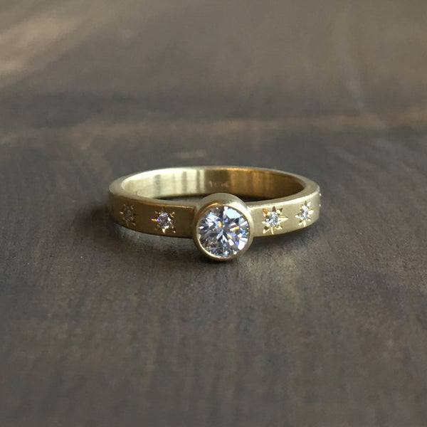 Sarah Swell Starry Sky Solitaire Engagement Ring