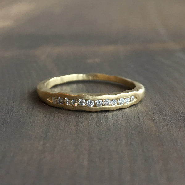 Sarah Swell Tidal Diamond Wedding Band