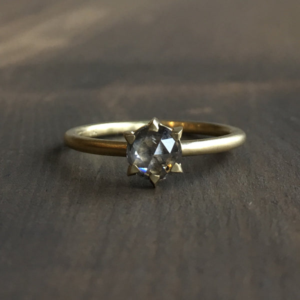 Sarah Swell Hera Round Grey Diamond Engagement Ring