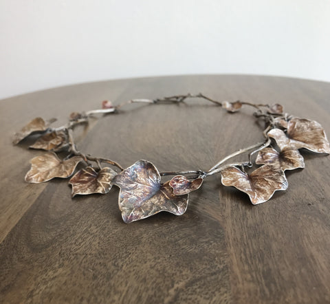 Gabriella Kiss Silver Ivy Vine Necklace