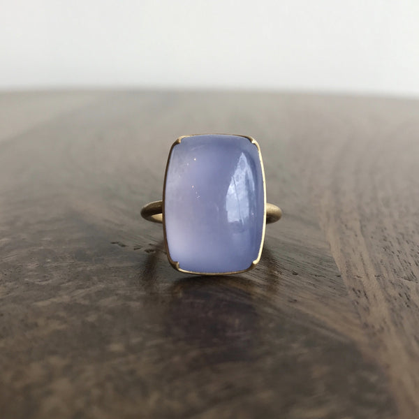 Gabriella Kiss Cushion Chalcedony Ring